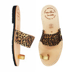 Alexis leopard toe post