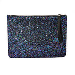 Dark Multi Glitter Palmaira Clutch Bag