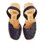 Dark Multi Glitter Cork Wedges