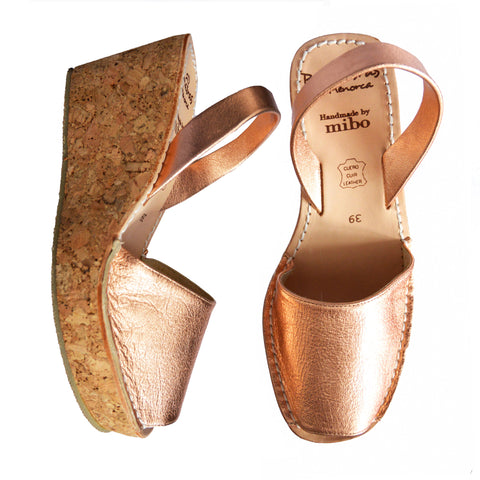 Metallic Copper Cork Wedges