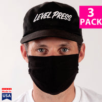 Daily Face Cover 3-Pack (BLACK)