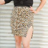 Leopard Slit Skirt