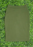 Up For It Olive Skirt