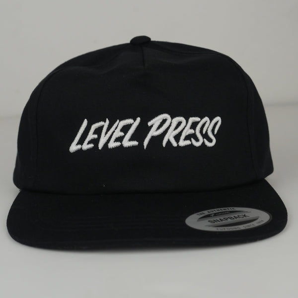 5 Panel Unstructured Hat - Level Press Logo