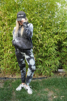 Off white and black - Unisex Tie Dye Sweatpants