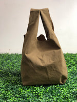 Brown British Millerian Co. Waxed Cotton Tote Bag