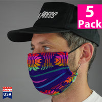 Daily Face Cover 5-Packs (Serape Fabric)