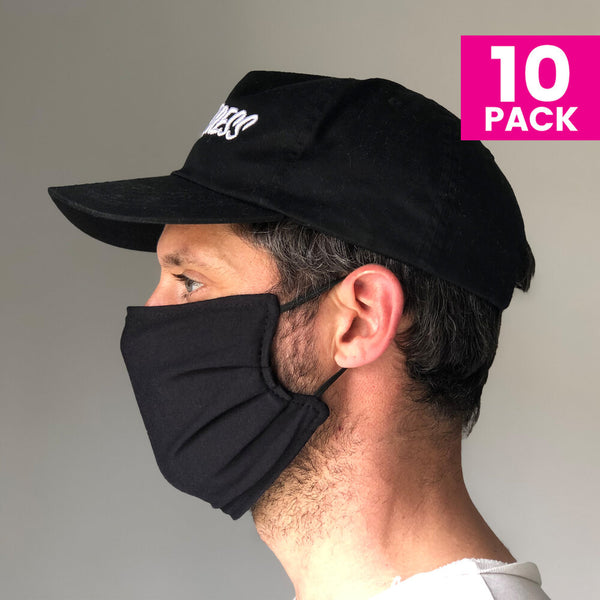 Daily Face Cover 10-Pack (BLACK)
