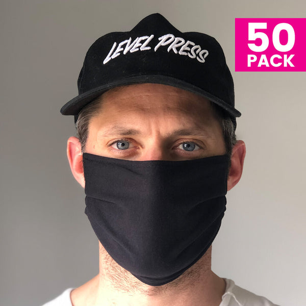 Daily Face Cover 50-Pack (BLACK)
