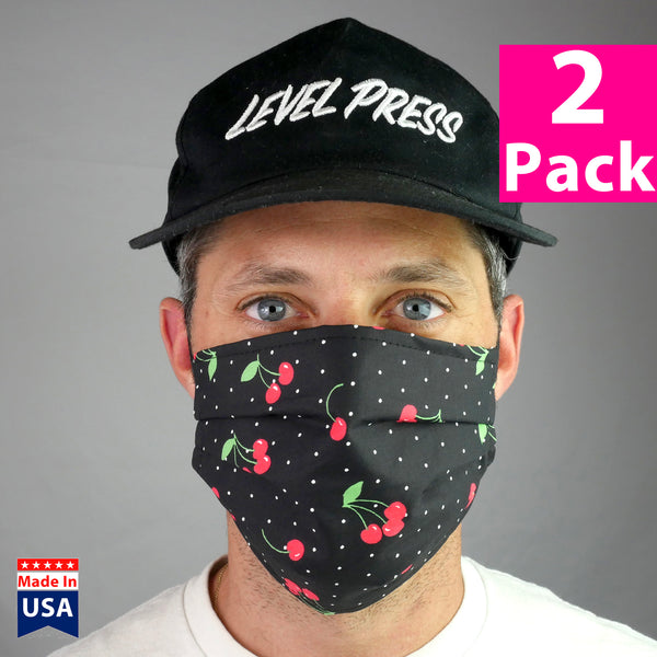 Daily Face Cover 2-Pack (Polka Cherries)