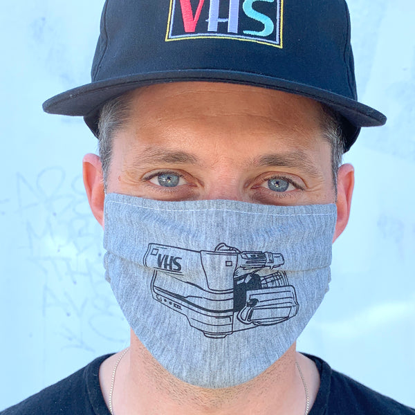 VHS™ Camcorder Masks - 3-Pack (Heather Grey)