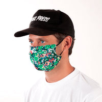 Daily Face Cover 4-Pack (Green Floral)