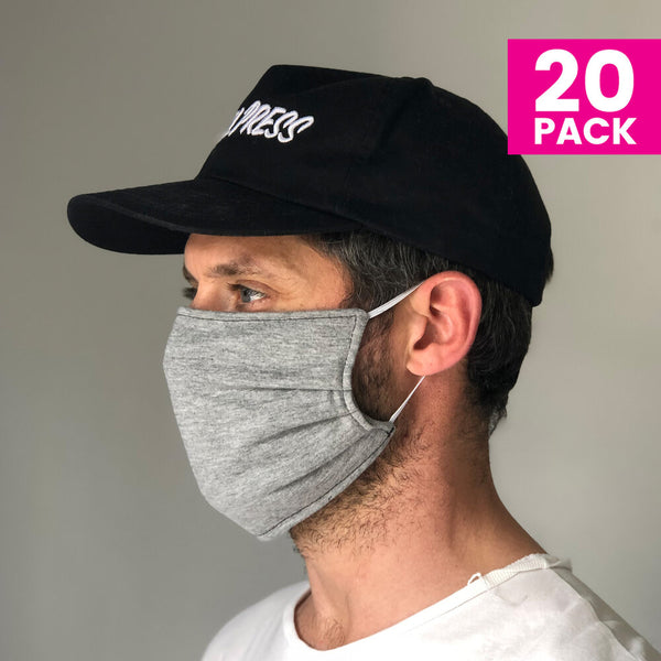 Daily Face Cover 20-Pack (GREY)