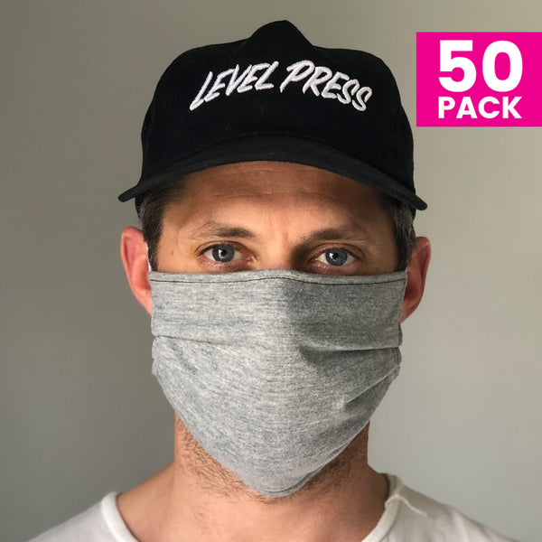 Daily Face Cover 50-Pack (GREY)