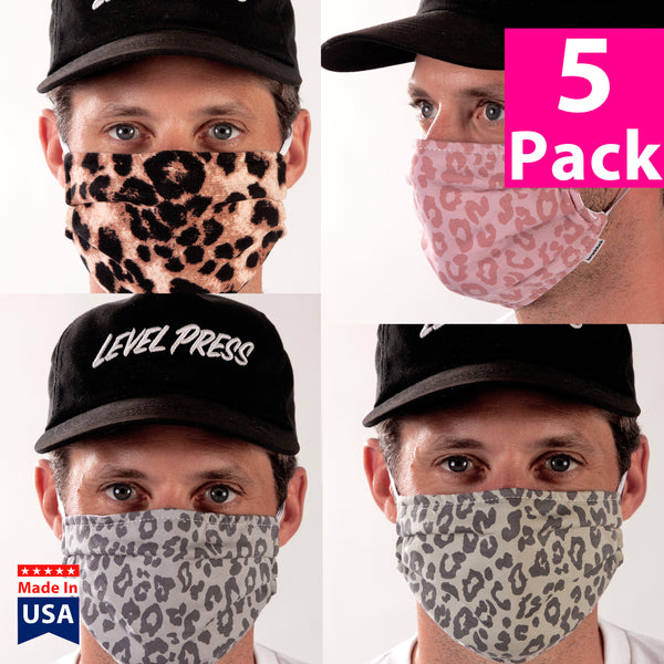 Daily Face Cover 5-Pack (Cheetah)