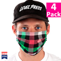 Daily Face Cover 4-Pack (Checkers)