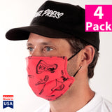Daily Face Cover 4-Pack (Sassy Graphic Print)