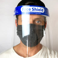 Face Shield/Daily Face Cover Combo - 2 Shields/2 Charcoal Masks