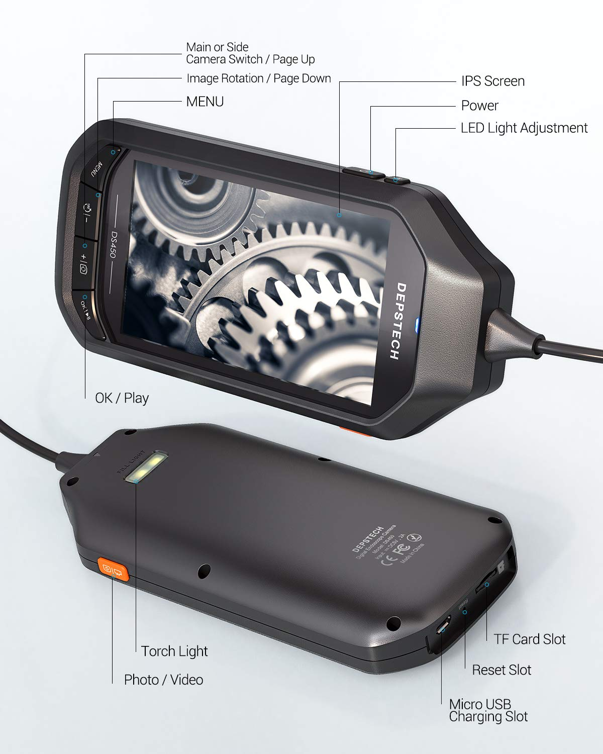 5.0MP Endoscope with 4.5