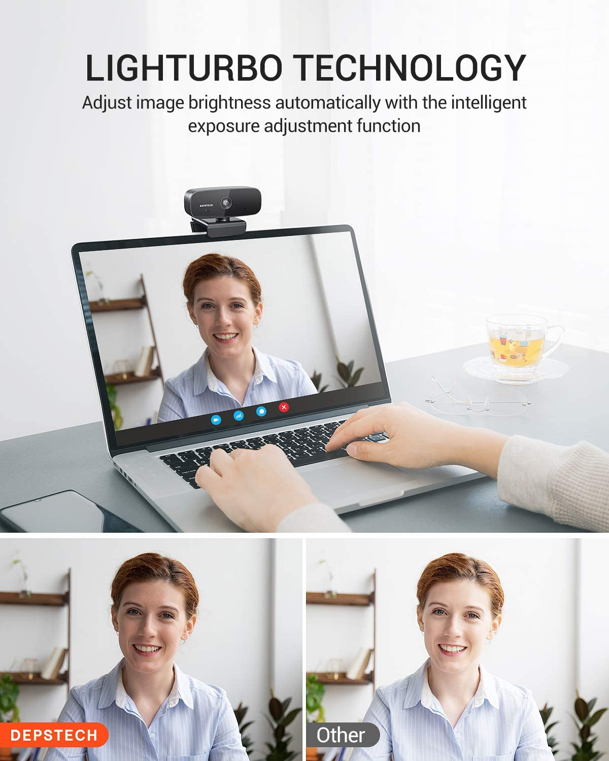 1080P Webcam with Microphone for Streaming, Windows 10