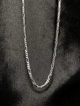 Load image into Gallery viewer, Stainless Steel Figaro Chain in Silver