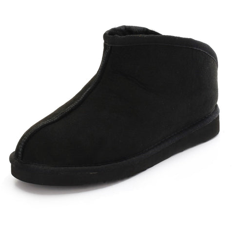 Sheep Touch Women's TULIP Twin-Faced Sheepskin Slippers Open-Back Black