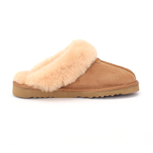 Sheep Touch Women's Classic Twin-Face Sheepskin Slippers Chestnut