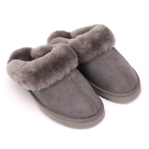 Sheep Touch Women's Classic Twin-Face Sheepskin Slippers Grey