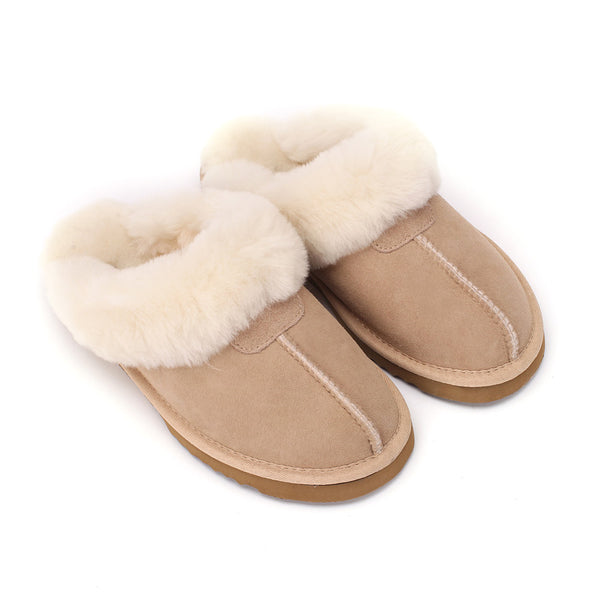 Sheep Touch Women's Classic Twin-Face Sheepskin Slippers Sand