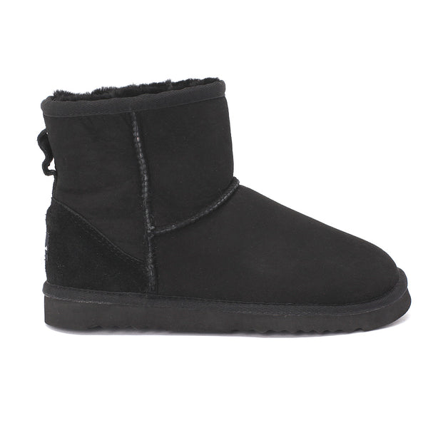 Sheep Touch Women's Classic Mini Twin-Face Sheepskin Boots Black