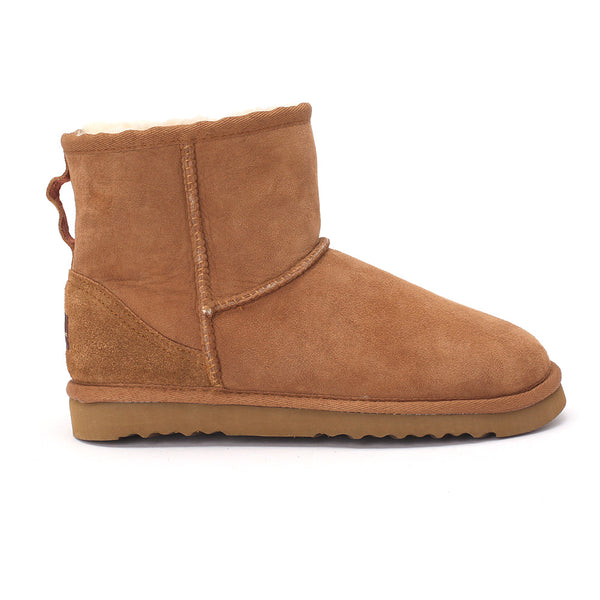 Sheep Touch Women's Classic Mini Twin-Face Sheepskin Boots Chestnut
