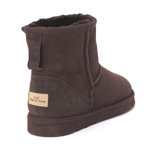 Sheep Touch Women's Classic Mini Twin-Face Sheepskin Boots Chocolate
