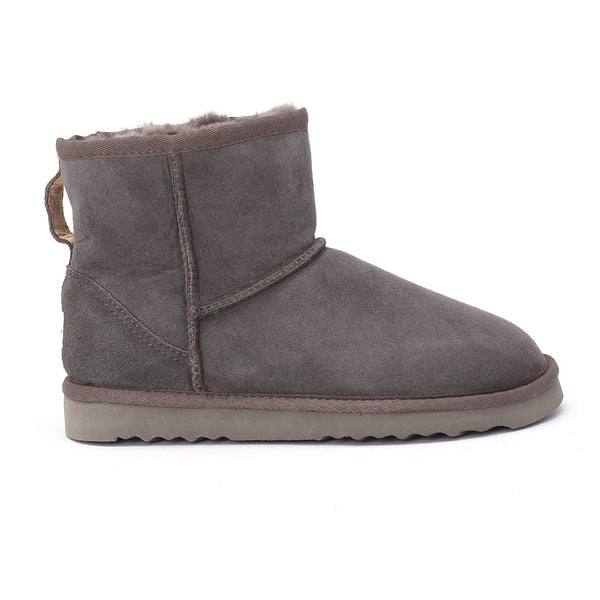 Sheep Touch Women's Classic Mini Twin-Face Sheepskin Boots Grey