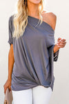 Women's Off-The-Shoulder Slash Neck Casual Loose Fitting Top