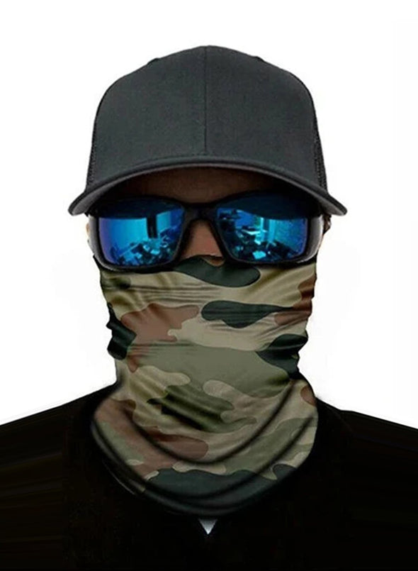 Unisex Bandanas Neck Gaiter Dust and Sun UV Protection (Camouflage)