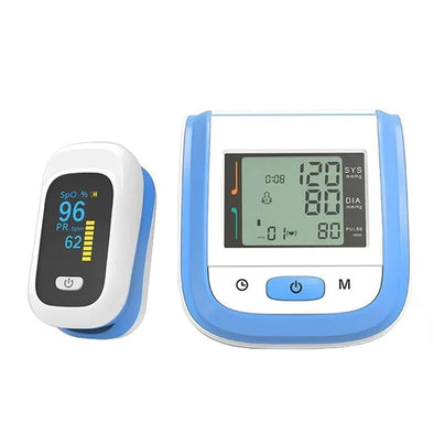 Best Selling|Fingertip Pulse Oximeter+Wrist Blood Pressure Monitor