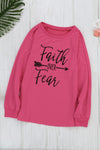 Women's Faith OVER Fear Black Shirt