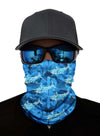 Unisex Bandanas Neck Gaiter Dust and Sun UV Protection (Acqua)