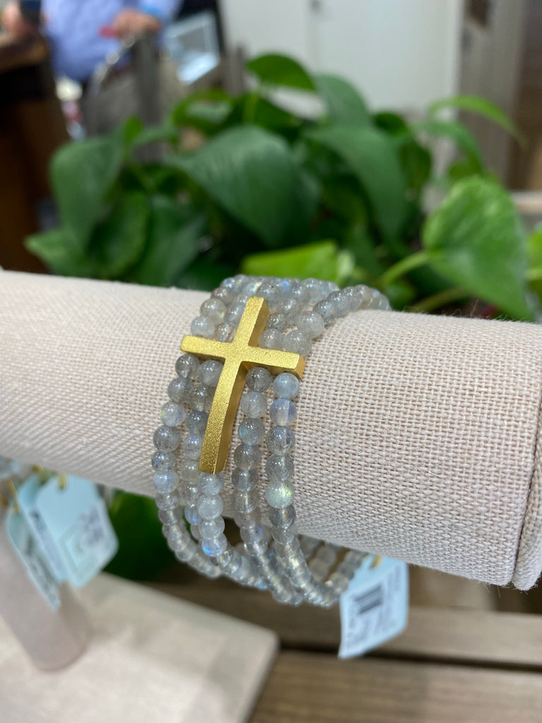 Gold-filled Beaded Cross Bracelet - THE VILLAGE JEWELER