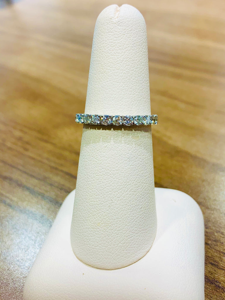French Pave Wedding Band - THE VILLAGE JEWELER