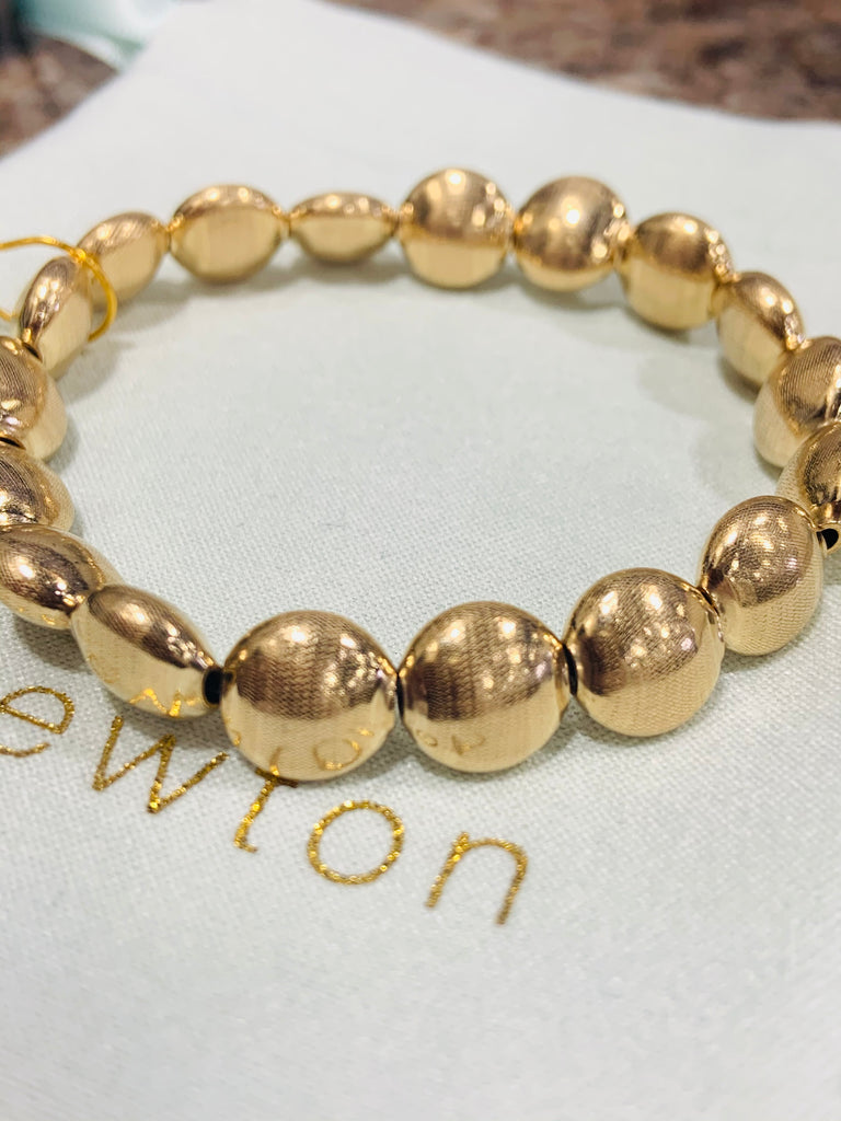 Gold Filled Honesty Beaded Bracelet - TVJGNV