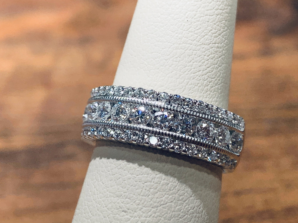 1.5 Carat Triple Row Diamond Ring - THE VILLAGE JEWELER