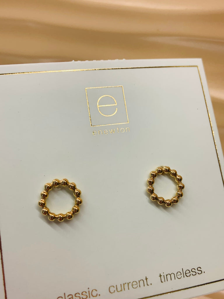 Gold Filled Beaded Halo Studs