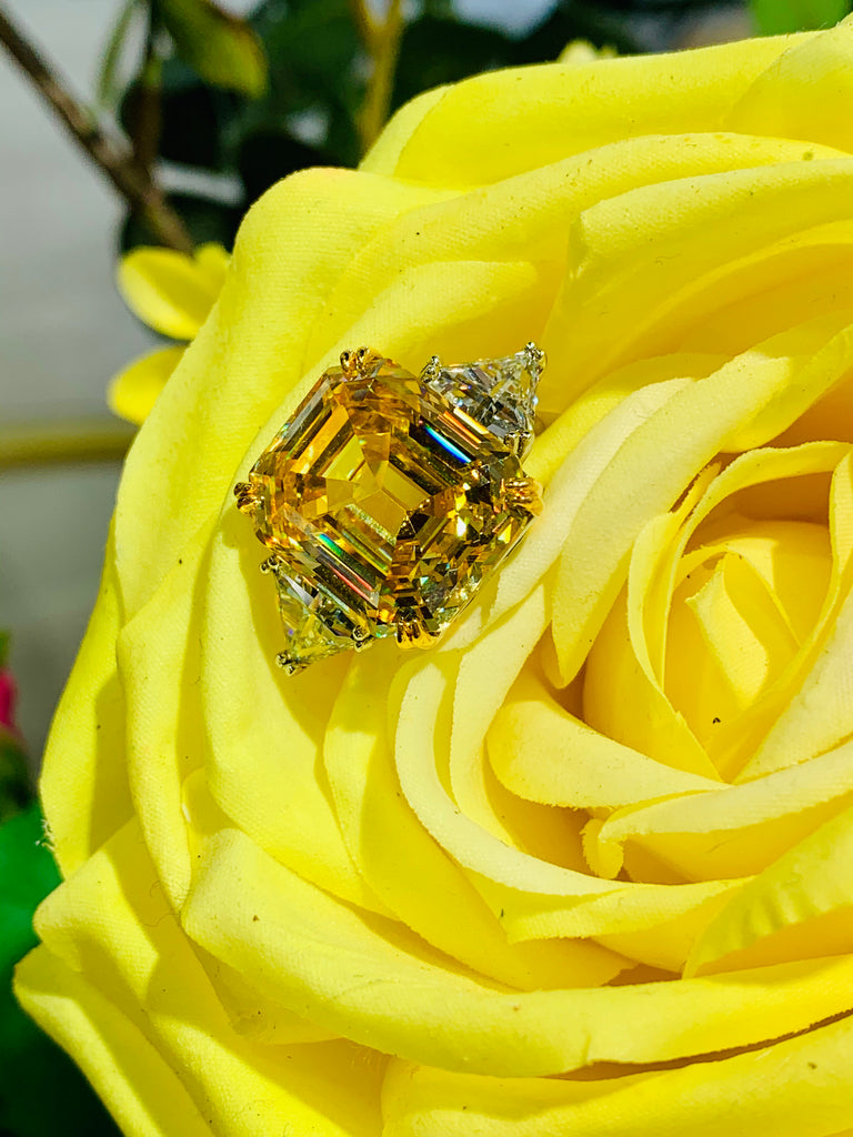 The Oxford Canary Ring - THE VILLAGE JEWELER