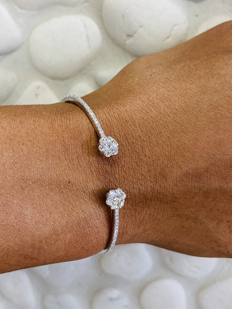 Floral Diamond Bangle - TVJGNV