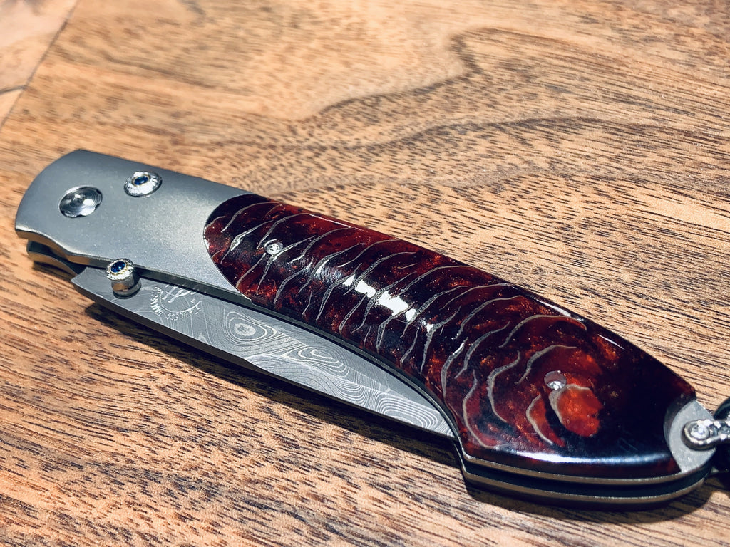 Limited Edition Damascus & Pine Cone Pocket Knife - THE VILLAGE JEWELER