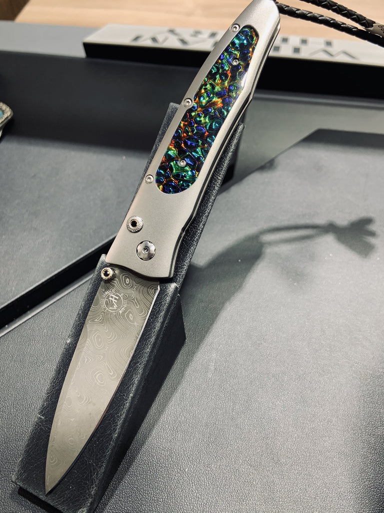 Limited Edition Damascus & Dichrolam Pocket Knife - THE VILLAGE JEWELER
