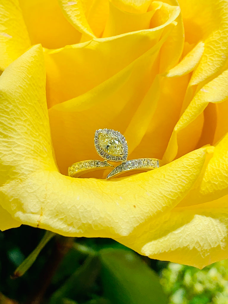 Yellow Diamond Cocktail Ring - THE VILLAGE JEWELER