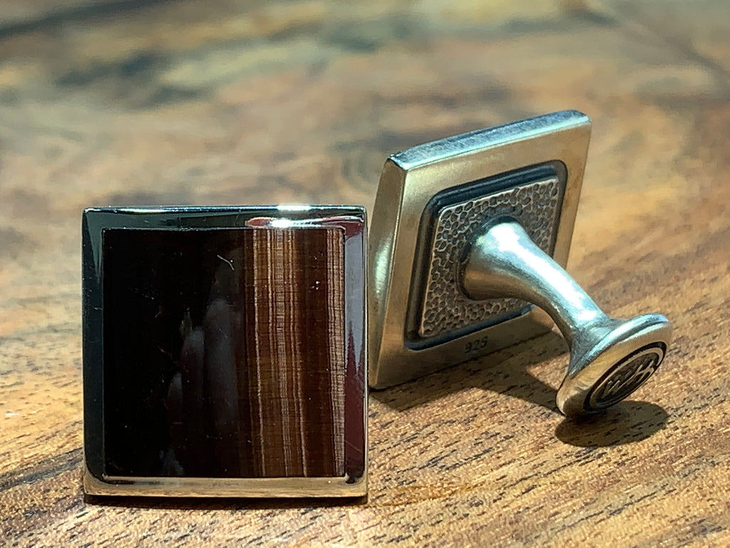 Tiger Eye Cuff Links - THE VILLAGE JEWELER