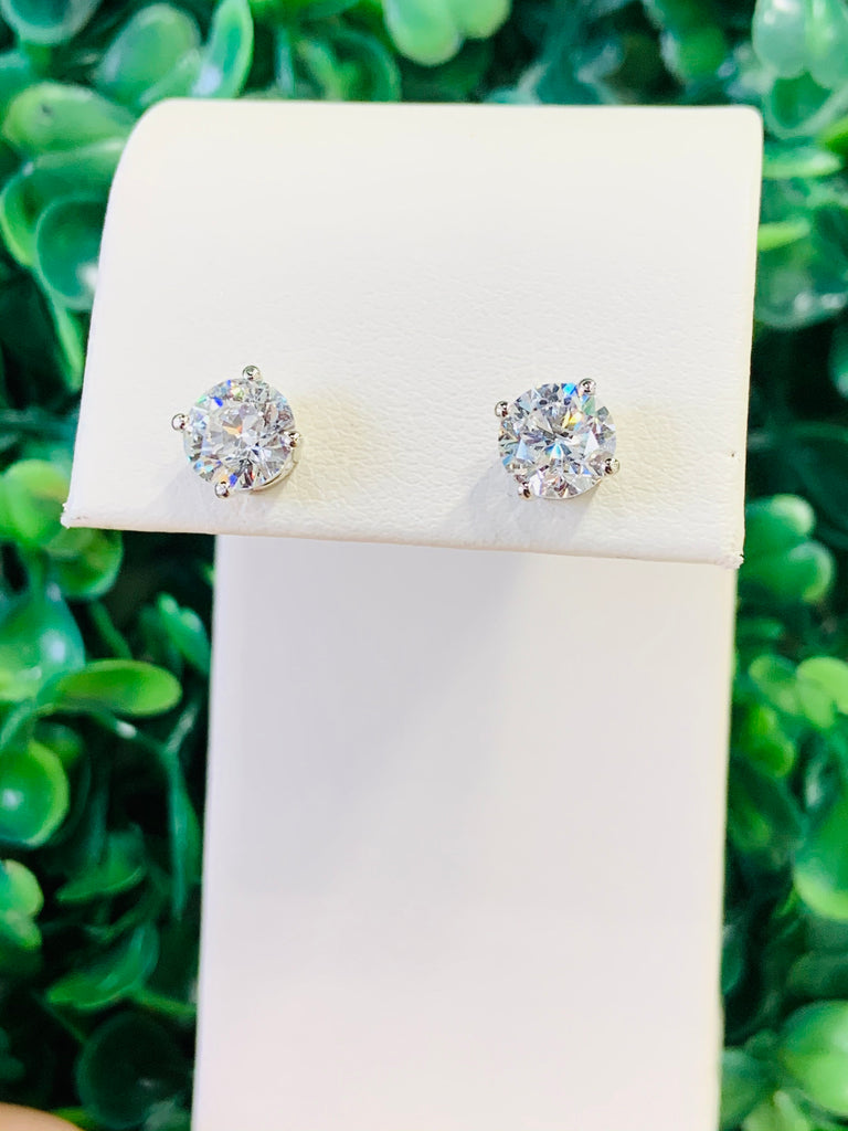 2.10 CTW Lab Grown Diamond Stud Earrings